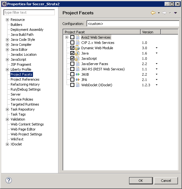 IBM WebSphere 8 5 – Struts2 Project Build Path + External JAR +